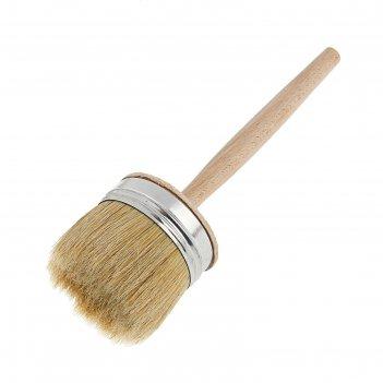 Кисть круглая lom, натуральная щетина, деревянная ручка, 75 мм