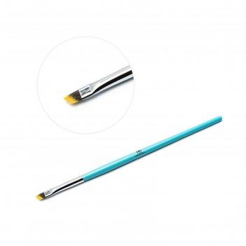 Кисть скошенная для китайской росписи голубая
