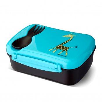 Ланч-бокс детский с охлаждающим элементом n'ice box™ giraffe бирюзовы