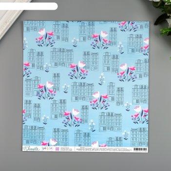 Бумага для скрапбукинга shimelle spring in the city 30.5х30.5 см, 190 гр/м