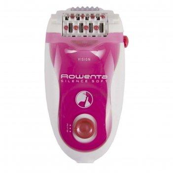 Эпилятор rowenta ep5660d0, 2 скорости, 5 насадок, белый/темно-розовый