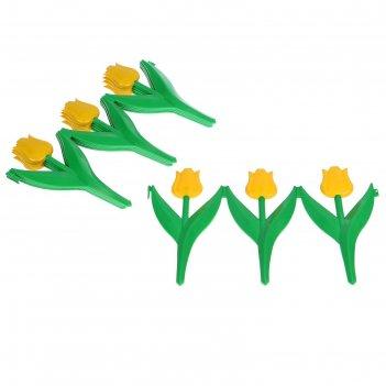 Забор декоративный, 45х30 см, 5 секций, цвет жёлтый тюльпан