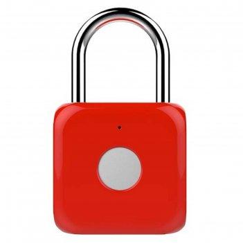 Умный замок digma smartlock p1, навесной, разбл.отпеч.пальца, 100мач, крас
