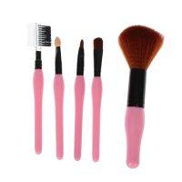 Набор кистей для макияжа, 5 предметов, цвет розовый