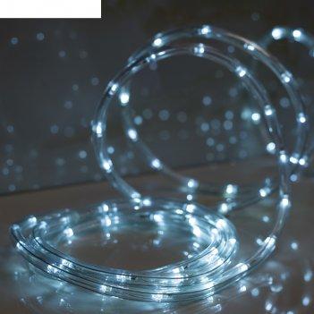 Led шнур 13 мм, круглый, 10 м, чейзинг, led/м-24-220v, с контролл. 8р, бел