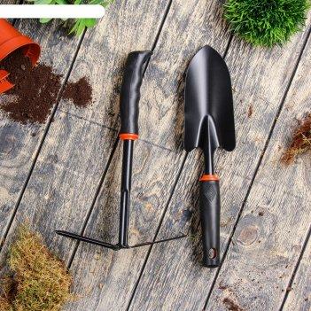 Инструмент садовый, 2 предмета, 35 см, рукоять пластик