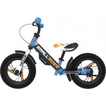 Алюминевый беговел с 2-мя тормозами small rider motors (eva) (синий)