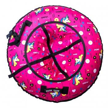 Санки надувные тюбинг rt единорог на розовом + автокамера, диаметр 118 см