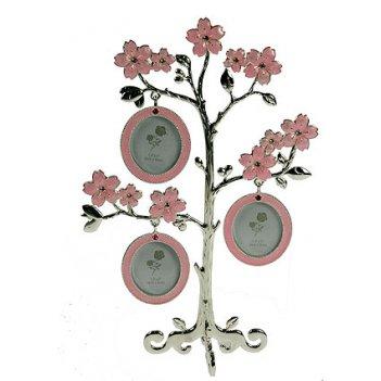 Фоторамка-дерево на 3 фото 16*8*23см