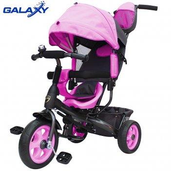 3-х колесный велосипед galaxy лучик vivat розовый