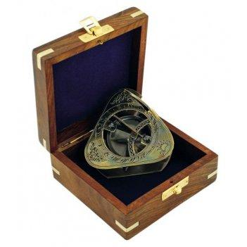 332003 солнечные часы-компас, 8х8х6,5 см