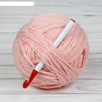 Крючок для вязания d8,0мм 14см, цвет белый/зелёный