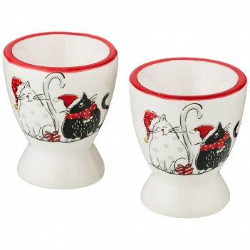 Набор подставок под яйцо из 2 шт.коллекция party cats 5,6*5,6*6,6 см