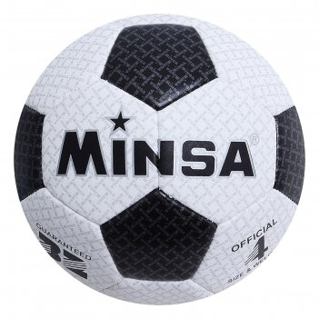 Мяч футбольный minsa, размер 4, 32 панели, pu, машинная сшивка, 310 г