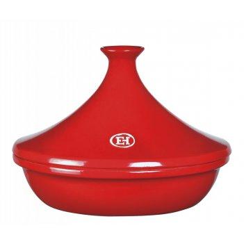 Тажин керамический emile henry красный 3 литра 32 см