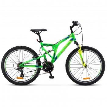 Велосипед 24 stels mustang v, 2017, цвет неоновый/зелёный, размер 16