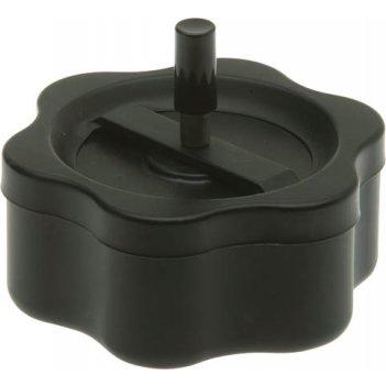 Пепельница s.quire, сталь, покрытие черная краска, черный, с черной ручкой