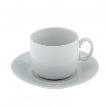 Набор чайный белье, 2 предмета: чашка 220 мл, блюдце