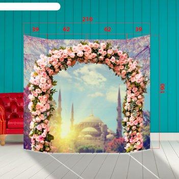 Ширма - фотозона арка с розами 210x190см