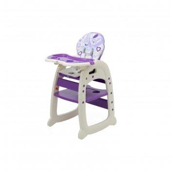 Стульчик для кормления polini kids 460, цвет фиолетовый