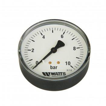Манометр watts 10008024, аксиальный, дк 80 мм, 1,0 мпа, наружная резьба 1,