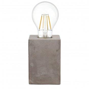 Настольная лампа prestwick 1x60вт e27 серый 9x9x13см