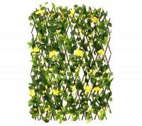 Декоративное ограждение гибискус желтый 240x60 см