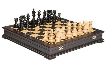 Эксклюзивные резные шахматы ручной работы венера, самшит эбен 50см