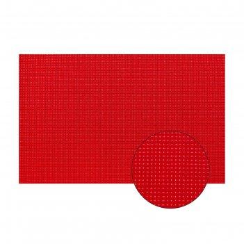Канва для вышивания №11, 60 x 40 см, цвет красный