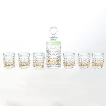 Набор для виски bohemia gold diamond 7 предметов