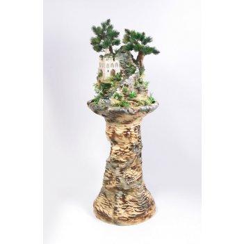 Напольный фонтан «восточные мотивы камень»