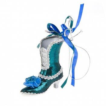 Украшение декоративное (подвесное) туфельки 8*9*8см. (3вида) (полиэстер) (