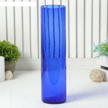 Ваза цилиндр синяя