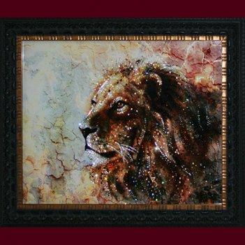 Картина сваровски - мраморный лев