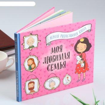 Фотоальбом моя любимая семья. 48 стр. первая родословная книга (для девоче