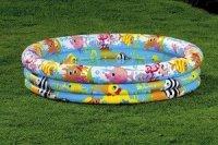 Бассейн надув. веселые рыбки 132х28 см
