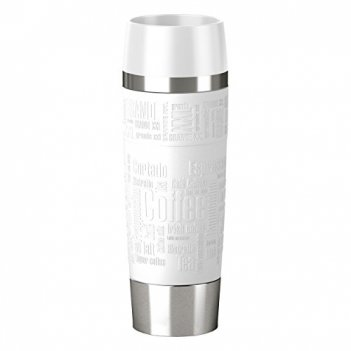 Термокружка 0,5л travel mug grande emsa, белая