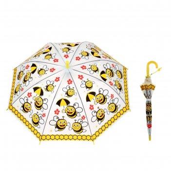 Зонт детский полуавтомат пчёлки, d=77см