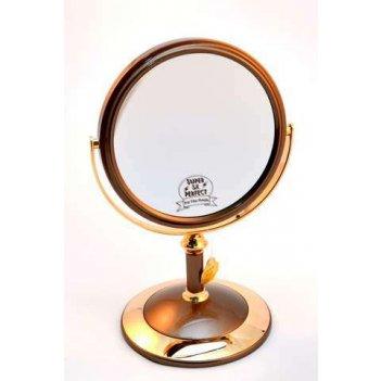 Зеркало* b68021 brz/g bronze&gold настольное 2-стор. 5-кр.у