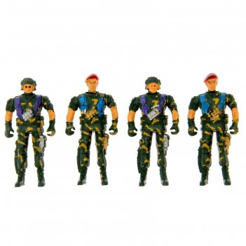 Набор солдатиков 4 шт спецназ