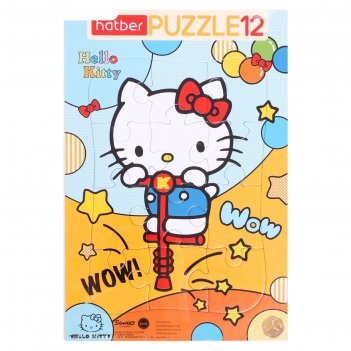 Пазл в рамке  12 эл. hello kitty 12пз4_23571