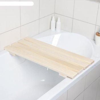 Решётка-трапик для бани и ванны малый 70x30x4 см, осина, сорт а