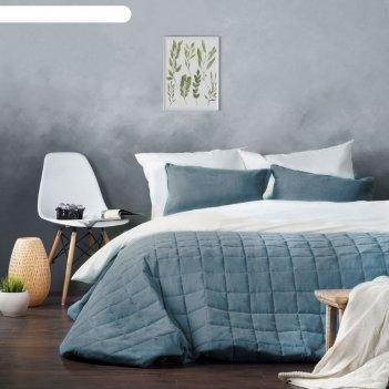 Комплект «софт»: размер 250 x 270 см, наволочки 40 x 60 см - 2 шт, голубой