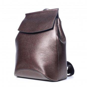 Рюкзак женский, натур.кожа, мод.11518 8с3288к45, цвет коричневый мталлик