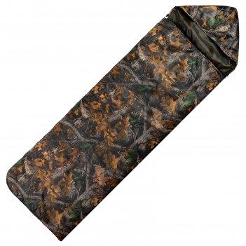 Спальный мешок maclay эконом  камуфляж, 2-х слойный, 225х70 см