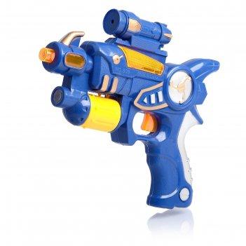 Пистолет бластер, световые и звуковые эффекты, цвета микс