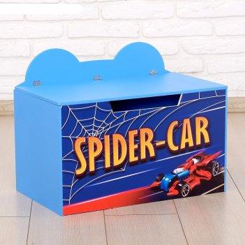 Контейнер-сундук с крышкой spider-car синий