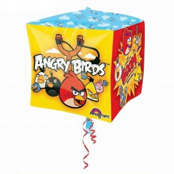 Шар фольга 3d куб 15 angry birds аг