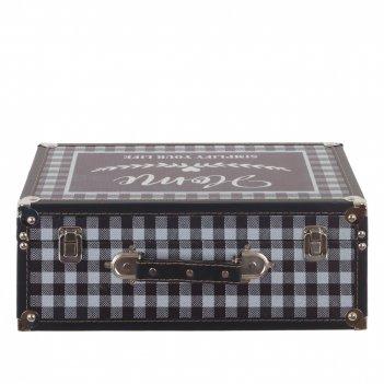 Шкатулка чемодан, l39 w14 h27 см