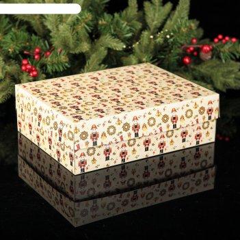 Коробка картонная на 12 капкейков щелкунчик, 32,5 х 25,5 х 10 см